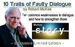 Robert McKee Lesson - 10 Traits of Faulty Dialogue on USB